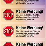 """""""Keine Werbung"""" Briefkasten-Aufkleber (transparent, 4 Stück)"""