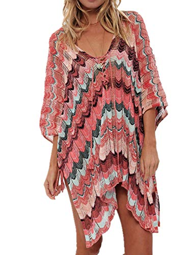 AiJump Túnica Crochet Borlas Vestido de Playa Pareos Verano para Mujer