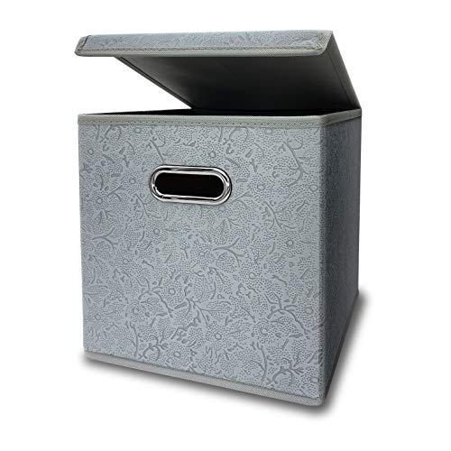 収納ボックス ふた付き キューブボックス 金属取っ手 完成品 寝室 引き出し クローゼット おもちゃ 事務室 ギフト くすり 学生 どこでも収納ボックス