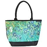 VON LILIENFELD® Borsa Shopping Donna Tracolla Spazioso Saccoccia Motivo Vincent van Gogh: Iris