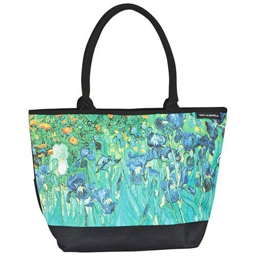 VON LILIENFELD Tasche Damen Einkaufstasche Shopper Bedruckt Motiv Kunst Vincent van Gogh Iris