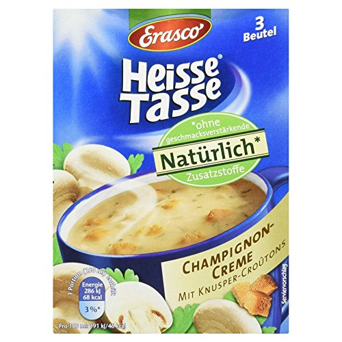 Erasco Heisse Tasse - Champignon-Creme, 3 Beutel, 42 g