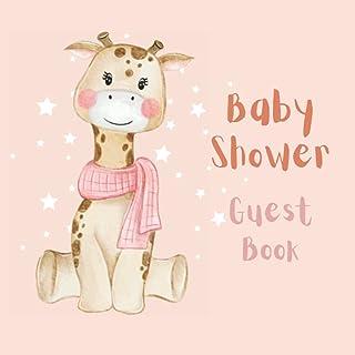Baby Shower Guest Book: Giraffe Baby Shower Guest Book to Welcome Baby Boy Girl | Safari Jungle Forest Woodland Animals Ba...