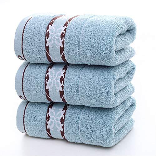 ZAIZAI Toallas de Mano de algodón de Lavado Suave Toallitas para el hogar Toalla Absorbente de baño Toallas de baño de 75 * 35 CM Hilo para Tejer Lote Toalla de Pelo (Color : A)