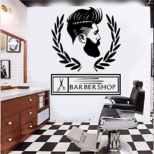 Stickers muraux Art autocollants et peintures murales salon de coiffure logo salon de coiffure mur salon de coiffure papier peint salon de coiffure logo logo 70x60 cm