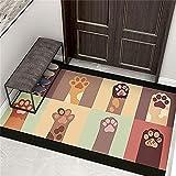 Adornos Salon Alfombra Pequeña Entrada Puerta de entrada de dibujos animados Dormitorio de la alfombra de la alfombra Resistencia a la alfombra para practicar la alfombra de los niños personalizable A