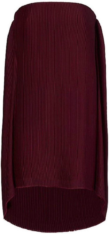 Dion Lee Burgundy Spiral Pleat Mini Dress 6
