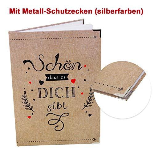 Logbuch-Verlag Geschenbuch SCHÖN DASS ES DICH GIBT - Buch zum Selberschreiben als Tagebuch Liebesbuch Geschenk Frauen Männer