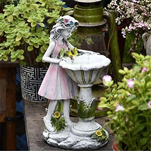 Flower Fairy Solar Decoration Resin Garden Statue Solar Power Outdoor Sculpture - Solar Garden Statue Waterproof Garden Ornament Resin Angel Garden Figurines - Outdoor Garden Flower Fairy Decorations