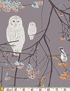 Bird Songs Sun - Blithe - Katarina Roccella - AGF - BLI-85606 - Woodland Forest Owl Bird Tree (Half yards)