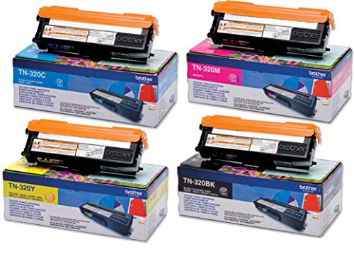 Brother TN320 Toner, Multipack, schwarz/cyan/magenta/gelb