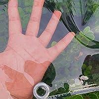 AOYOP 透明な防水シート、0.35Mmのポリ塩化ビニールのガラス透明な防水防水防水防水防水耐久性のある耐摩耗性のあるプラスチック布、屋外のカーテンパネルの植物のカバーシート、厚さの端、金属アイレット(1.7X4M / 5.6X13Ft),1X1.5M / 3.3X4.9Ft