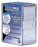 Ultra Pro Diamond Corners 100 Count Clear Card Storage Box (SF100D)