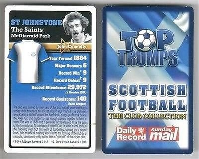 Top Trumps Scottish Football Club collection card St Johnstone SAINTS McDiarmid