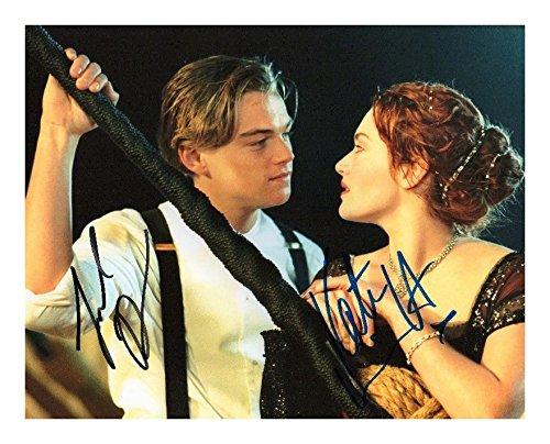 FM Titanic - Leonardo Dicaprio & Kate Winslet Signiert Autogramme 21cm x 29.7cm Plakat Foto