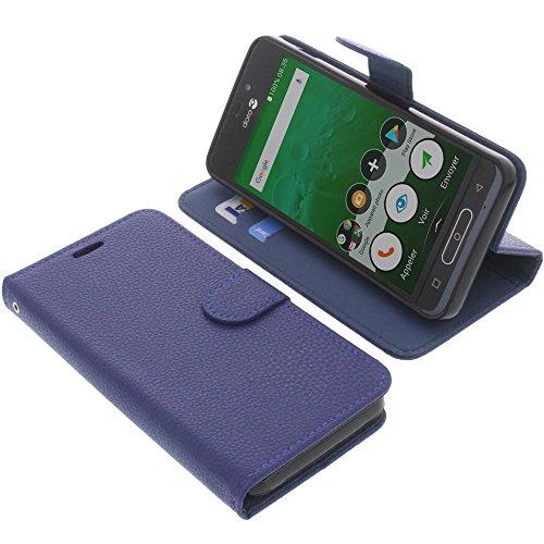 foto-kontor Tasche für Doro 8035 Book Style blau Schutz Hülle Buch