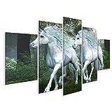 islandburner, Bild Bilder auf Leinwand Unicorn ULM Forest -