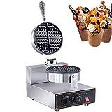 YFGQBCP Eggettes eléctrica Burbuja Waffle Hierro Fabricante Antiadherente Máquina Baker, con Receta E-Libro, Smart Touch Screen de Acero Inoxidable Comercial Huevo Wafflera