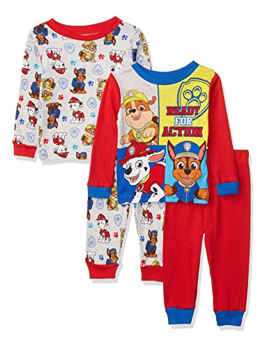 Nickelodeon Boys' Paw Patrol 4-Piece Pajama Set