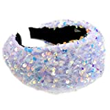 Goneryisour Vintage Sweet Glitter Anti-Rutsch Damen Stirnband – Festival Party Full Holographic...