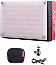 Aputure Amaran AL-MX LED Video Light 128 SMD LED Bi-Color On-Camera Video Light, TLCI/CRI 95+, 2800-6500K Adjustable, 3200lux@0.3m Booster Mode with Built in Battery