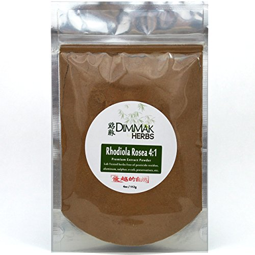 Rhodiola Rosea Powder Extract 4:1 4 Ounce | Hong Jing Tian Concentrate | Lab Tested Extract Powder 112 Gram Resealable Bag