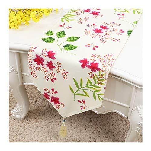 Qiao Jin Manteles de 13.2'x 60' Camino de mesa, mantel de impresión moderna, para decoración de casa, fiesta, cocina, comedor, mesa de café, mantel de tela para restaurante, cafetería, mantel, B, 33*180cm