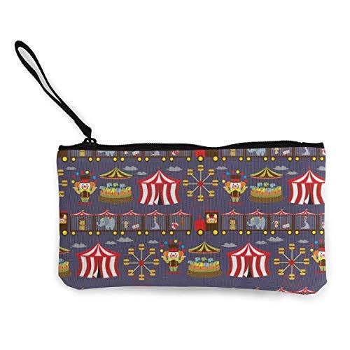 Yuanmeiju Unisex Brieftasche, Münztaschen, Vintage inspirierte Karussell Damen Leinwand Münzgeldbörse Mini Change Brieftasche Beutel-Kartenhalter Telefon Brieftasche Aufbewahrungstasche