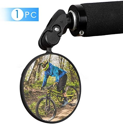 Bike Mirror Bar End Bike Mirror Handlebar End Bike Mirror Adjustable Safe Rearview Mirror HD product image