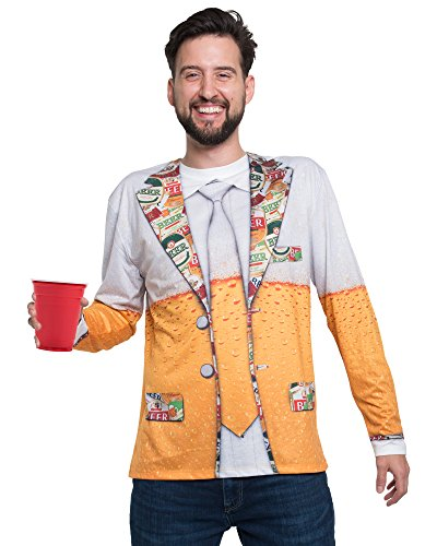 Adopteuntshirt - Long Sleeve: 1960'S Suit T-Shirt - Couleur : Noir - Taille : S