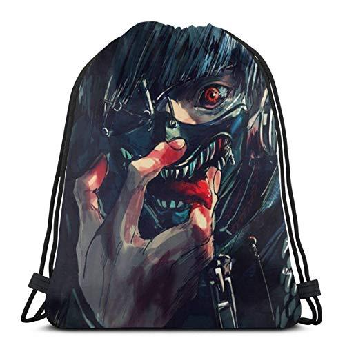 Mochila con cordón Tokyo Ghoul Kaneki Ken ligero clásico personalizado bolsa de deporte mochila