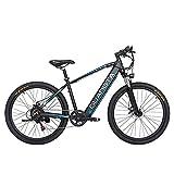 GTWO F1 27,5 Pulgadas 750W Bicicleta eléctrica 48V 15Ah batería de Litio Oculta Horquilla de suspensión bloqueable 5 Pas Bicicleta de montaña (Black Blue A, Freno Disco hidráulico)
