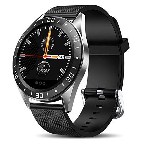 HuangTing Trends Smart Horloge Mannen LED Scherm Hartslagmeter Bloeddruk Fitness Tracker Sport Horloge Waterdichte Smartwatch