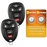 Keyless Replacement Key Fob Car Remote Compatible with 15913415, 25839476 (2 Pack)