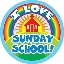 I Love Sunday School Stickers