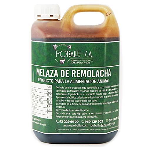 MELAZA POBALLE para COMPOST – Cultivo, cosechas y plantas. Garrafa de 2,5 kg de MELAZA de Remolacha de alta pureza.