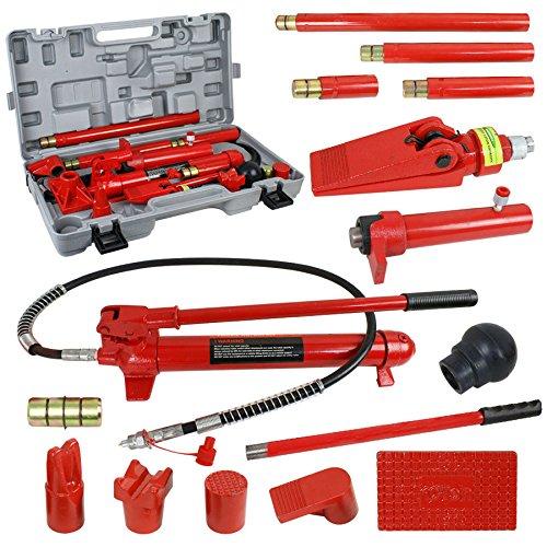 PiggiesC 10 Ton Porta Power Hydraulic Jack Body Frame Repair Kit Auto Shop Tool Lift Ram