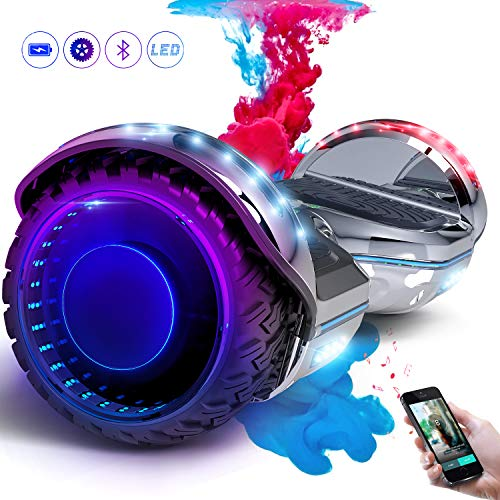 COLORWAY Hoverboard SUV 6.5 Pouces, Gyropode Tout-Terrain 700W, avec Roues LED Flash,...