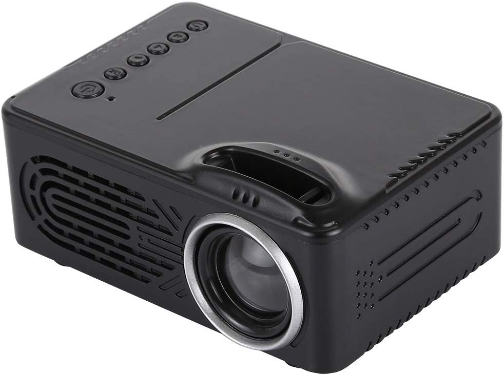 Keke Clothing Store Support AV & USB & TF(Black), Lumens 320x240 Menage Theater LED Projector with Distant Control (Color : Black)