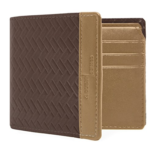 Vegan Leather Wallets For Men - Cruelty Free Non Leather Mens Wallet Bifold Flip Up ID Window RFID Box Gifts For Men