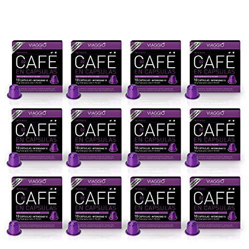 Viaggio Espresso Cápsulas de café compatibles con máquinas Nespresso Intenso (120 Cápsulas)