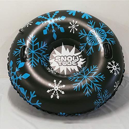 Tubo inflable para trineos de nieve, trineos de nieve para niños y adultos,43 pulgadas de gran tamaño Nieve tubos con asas resistentes, engrosamiento a prueba de congelación y resistente al desgaste