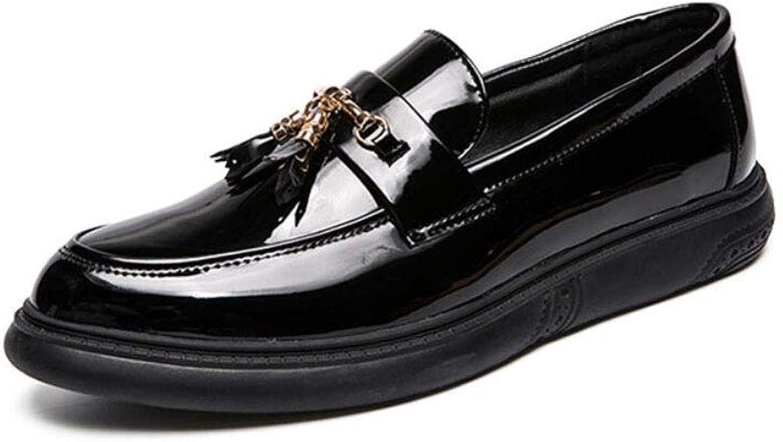 ZIXUAP ZIXUAP ZIXUAP Herren Schwarz Leder Schuhe Freizeitschuhe Mode Herren Leder Cypress Hill Fahrer Fahrstil Loafer, schwarz körnig B07Q4P924S  Trendy bed59d