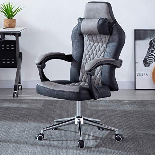 Comif- Ergonomische Büro-Liege, Schreibtischstuhl mit hoher Rückenlehne und Kopfstütze,...