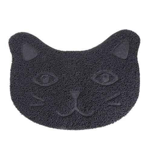 Hothap creatieve huisdier katten mat gezicht nest zand doos voeding kom PVC lade tafelkleed Tidy schoonmaken, Grijs