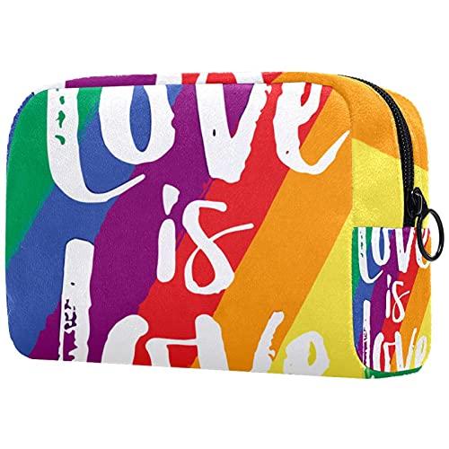 Bolsa Maquillaje Almacenamiento organización Artículos tocador cosméticos Estuche portátil Bandera de Amor Gay para Viajes Aire Libre