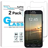 KATIN Galaxy J3 Luna Pro Screen Protector - [2-Pack] (Japan Tempered Glass) for Samsung Galaxy J3 Luna Pro Screen Protector Bubble free, Easy to Install with Lifetime Replacement Warranty