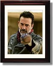 Framed Walking Dead Negan:Lucille Wants You Jeffrey Dean Morgan Autograph Replica Print