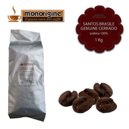 Arabica Coffee beans Santos Brasile Genuine Cerrado - 1 Kg