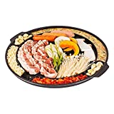 Eutuxia Master Grill Pan for Korean BBQ, Cast Iron Stovetop Nonstick Smokeless Scratch-Resistant
